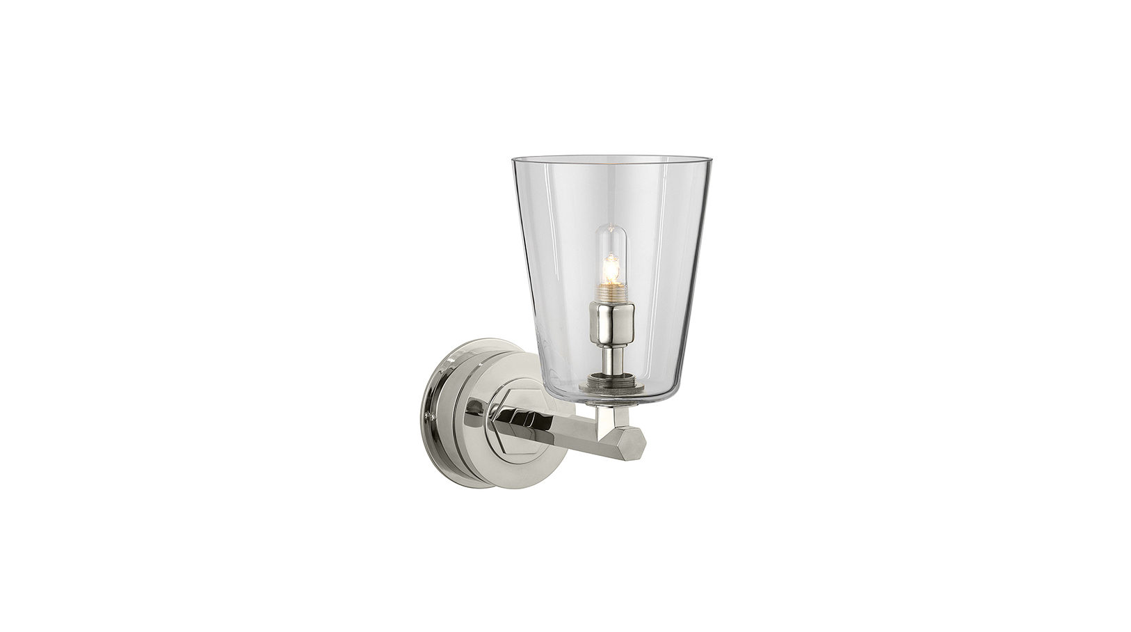 The Single Chessleton Light, Conical Glass Shade