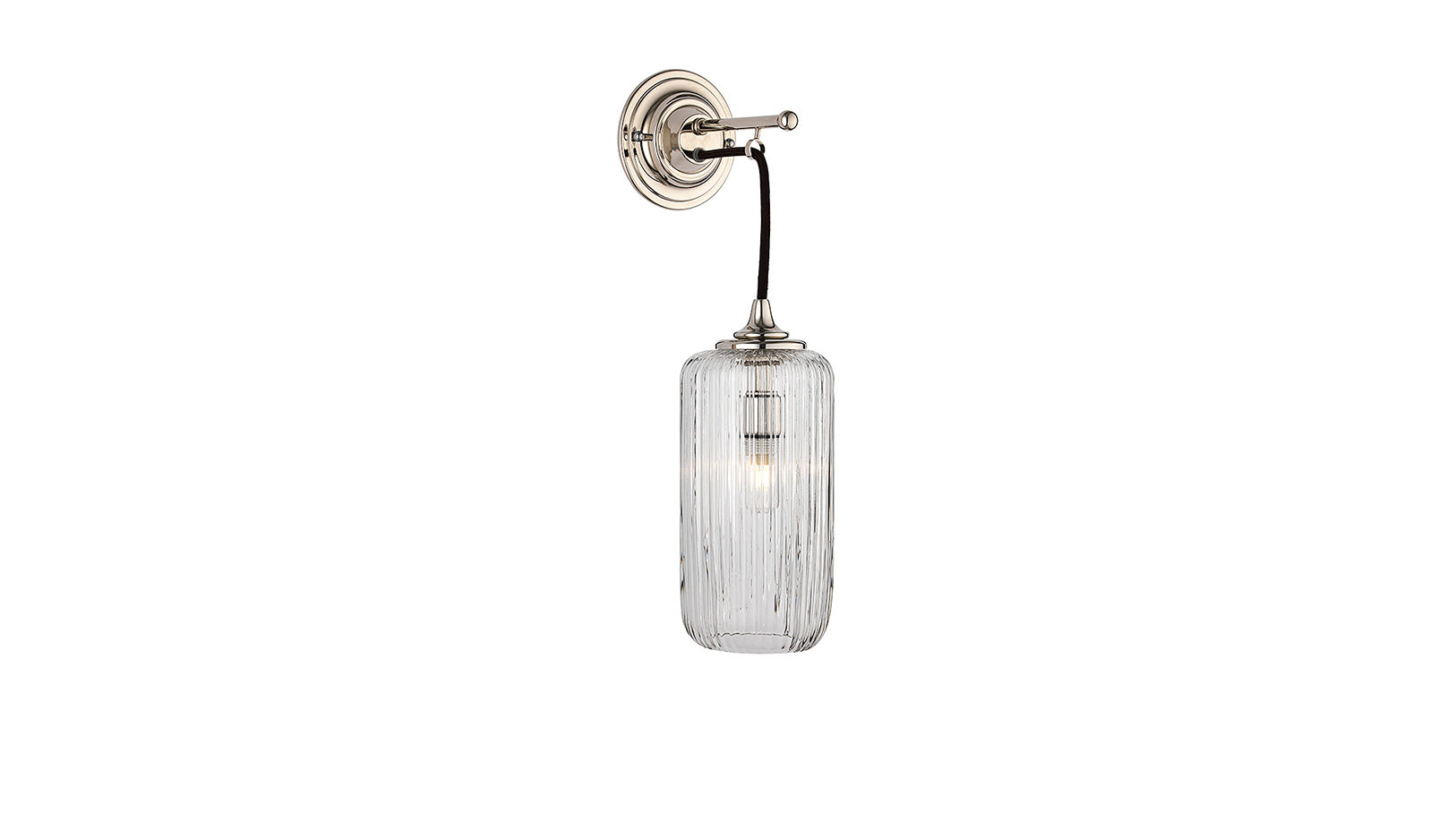 The Single Dalby Light, Fluted Glass Shade