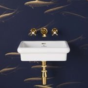 The Bourne Wall Mounted Vanity Basin in brass finish
