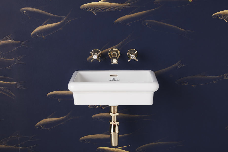 The Bourne Wall Mounted Vanity Basin in nickel finish