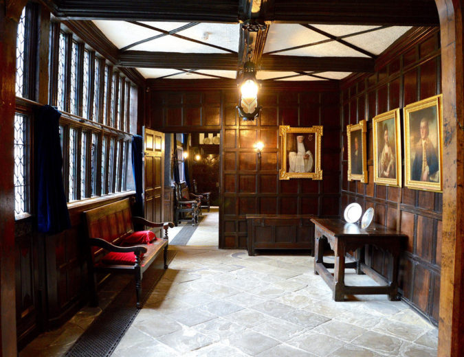 Panelled interior for Gothic Farmhouse look