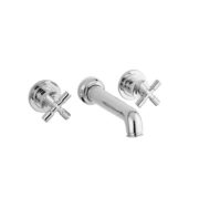 The Bestwood X Head 3 Hole Wall Basin Mixer Extended Spout