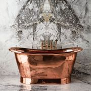 The Baby Tyne Copper Bath Tub With Copper Exterior