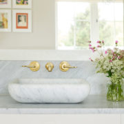 The Leawood Lever 3 Hole Wall Basin Mixer