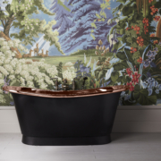 The Tyne Copper Bath Tub With Painted Exterior